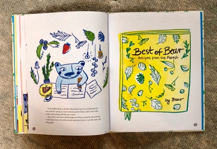 The cover of Bear's cookbook