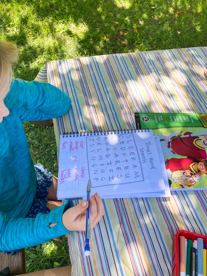 Camping-Themed Active Learning JournalPages